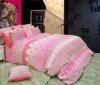 Comforter set, Lace Pink 100% microfiber
