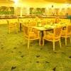 Commercial floral carpet