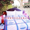 Cotton Blue Bed Sheet Patchwork Quilt