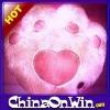 Cute pink bear's paw Led Light Pillow