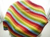 DD10006 Handmade Crocheted Baby Rainbow Soft Blankets Afghan Coverlet Milk Cotton