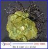 DIY feather flower fascinator