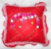 DIY ribbon embroidery cushion,needlework