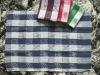 Dark blue tea towel manufacture