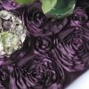 Dark purple Satin Rosette Table Runner/Wedding Table Runner/Table Runner Decoration