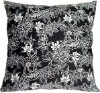 Delicate Floral on Black Large Accent Cushion(HZY-P-8134)