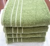 Dobby border green bath towel/high quality bath towel blanket