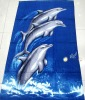 Dolphin Design Printed Beach Towel