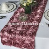 Dusty Rose Satin Rosette Table Runner/Wedding Table Runner/Table Runner Decoration