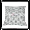 Elegant Black Dot Print White Pillowcase cushion cover