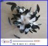 Elegant Ivory bridal flower hair comb -Flower & Feather