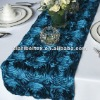 Elegant Satin Rosette Wedding table Runner/ Table Runner for Wedding