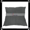 Elegant White Dot Print Black Pillowcase Cushion Cover