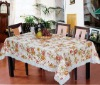 Embossed &shiny pvc Tablecloth