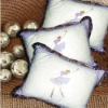 Embroidery pure cotton pillow cushion case --Ballet Girl