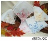 Embroidery pure linen ladies handkerchief