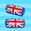English flag printing cushion