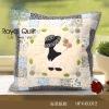 "Fabric ""A Cute Groom"" cushion cover kit"