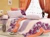 Fancy & Modern Cotton Pigment Print 4 pcs Flat Sheet Bedding Set