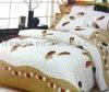 Fashion 4pcs polyester peach skin bedding set