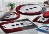 Fashion carpet acrylic bath mat set