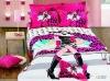 Fashion girl reactive print cotton bed sheet