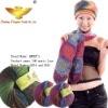 Fashion lady scarf knitting dyed wool fancy yarn