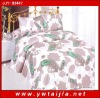 Feather print 4 pcs bedding set/ natural design bedlinen/ best price 4 bedding set