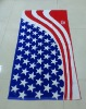 Flag printing promotional towel/ velour cotton flag towel