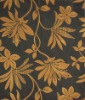 Flock upholstery fabric