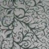 Flocking printed curtain Fabric
