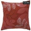 Floral Faux Suede Cushion