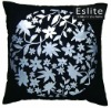 Floral Metalic Printed Cushion