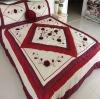 Floral applique comforter bedding set