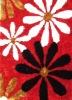 Flower Polyester shaggy Carpet