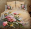 Flower and Bird Photo printed Bedding set/Bed Sheet