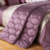 Francesca Faux Silk Quilted Bed Throw, Plum, 220 x 240 Cm