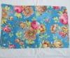 Full printed microfiber towels(flower design)