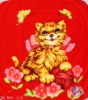 Funny Smiling cat polyester blanket