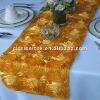 Gold Rosette Wedding table Runner/ Table Runner for Wedding