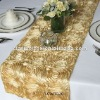 Gold Satin Rosette Table Runner/Wedding Table Runner/Table Runner Decoration