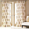 Gold Silver Zari Print Curtains