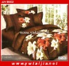 Good Texture Polyester Microfiber Wedding Bed Set