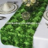 Green Satin Rosette Table Runner/Wedding Table Runner/Table Runner Decoration