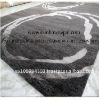 Grey Wool Viscose Decorative Carpet Rug