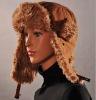 HX-201 canvas fake fur hat