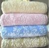 Half zero twist cotton Jaquard bath towel