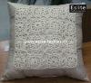 Hand Crocheted Flower Cushion