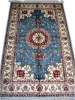Hand Knotted Turkish Rug/Silk Rug/Persian Rug/Blue Rug
