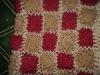 Hand crochet throw blanket